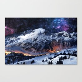 Mountain CALM IN space view Canvas Print