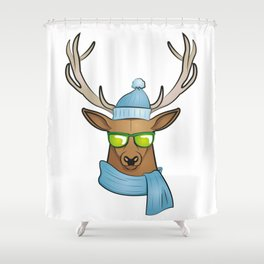 cool stag Shower Curtain