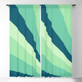 Green Emerging Rays Blackout Curtain