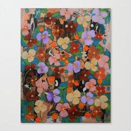 Rhythm of the waterfall flowers Canvas Print