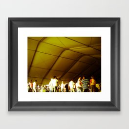 Golden Glimmer Framed Art Print