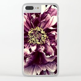 Peony Flower A103 Clear iPhone Case