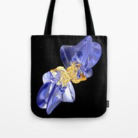bow Tote Bags featuring Bow by lightningMade