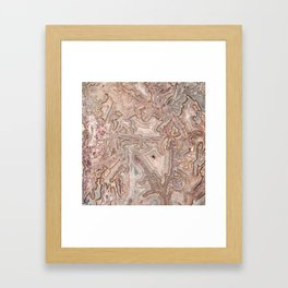 Crazy Lace Agate Mineral Framed Art Print