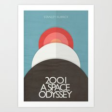 2001 a Space Odyssey - Stanley Kubrick ,Movie Poster, minimal version, vintage, retro Art Print