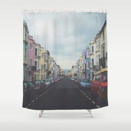 Brighton Houses Shower Curtain