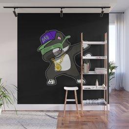 Dabbing Cat Frajola Wall Mural