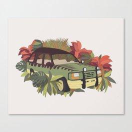 Jurassic Car Canvas Print