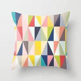 Abstract Geo Diamonds Throw Pillow