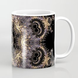 Purple and Gold Fractal Kaleidoscope 2 Coffee Mug