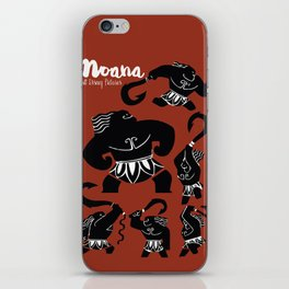 Moana, Animated Movie Poster, Oceania, Vaiana, minimal, alternative, film, playbill, 3D cartoon iPhone Skin