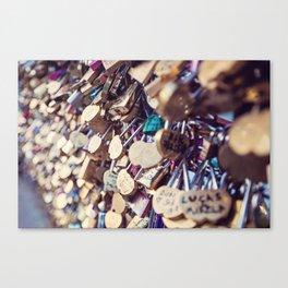 Paris Love Locks Canvas Print