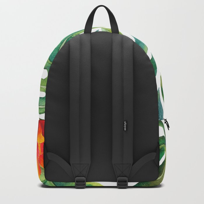 Monstera And Hibiscus Backpack