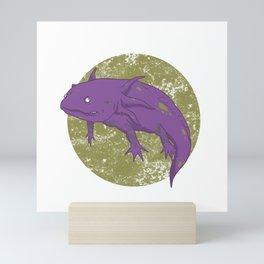 Axolotl Gothic Goth Water Aquarium Pet Animal Gift Mini Art Print