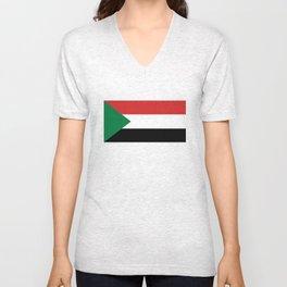 Sudan country flag Unisex V-Neck