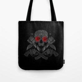 Skull, roses and guns Tote Bag