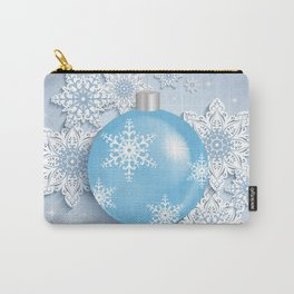 Christmas ball with snowflakes Carry-All Pouch