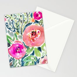Peach Floral Stationery Cards