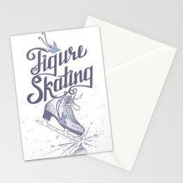 Figure skating Stationery Cards