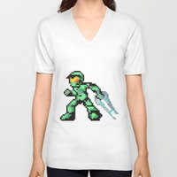 master chief V-neck T-shirts featuring master chief by Walter Melon