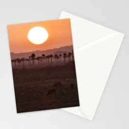 Sunset in the palm trees Stationery Cards