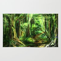 gaming Area & Throw Rugs featuring The Great Gaming Forest by LightningArts