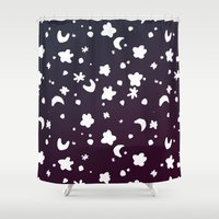 starry night Shower Curtains featuring Starry Night by Oh Monday
