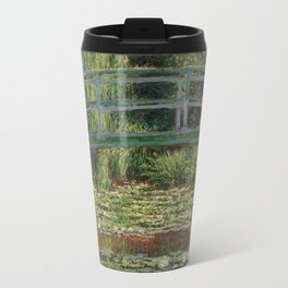 1899-Claude Monet-The Japanese Footbridge and the Water Lily Pool, Giverny-89 x 93 Travel Mug