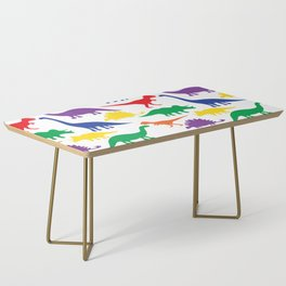 Dinosaurs - White Coffee Table