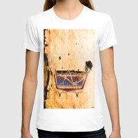 bathroom T-shirts featuring Monsieur Bone in the bathroom by Ganech joe