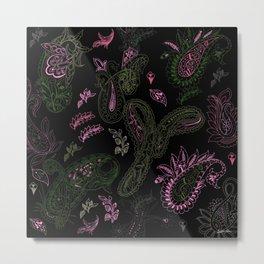 Pink Roses in Anzures 1 Paisley 1 Metal Print