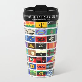 Vexillology of Undiscovered Countries Metal Travel Mug