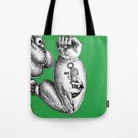 popeye Tote Bags featuring Popeye & Annie Anchor by C. Mark Burt