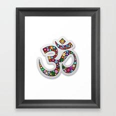 Om Aum Namaste Yoga Symbol  Framed Art Print