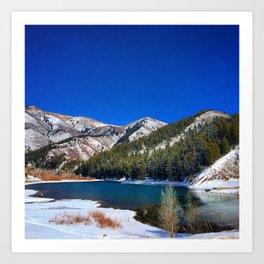 Winter Reservoir  Art Print