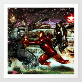 battles between robots Art Print