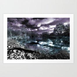 Cyan River  Art Print