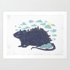 City Rat Art Print
