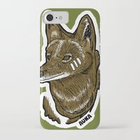coyote iPhone & iPod Cases featuring Coyote by Sergio Campos
