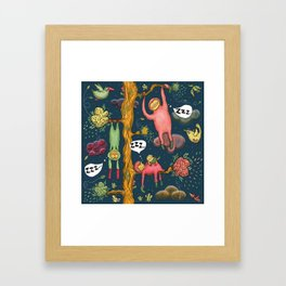 the three primary positions of the sloth Framed Art Print