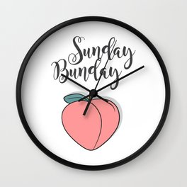Sunday Bunday Wall Clock