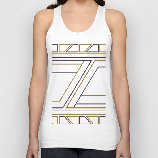 Geometry on white (abstract) Unisex Tank Top