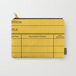 LiBRARY BOOK CARD (dandelion) Carry-All Pouch