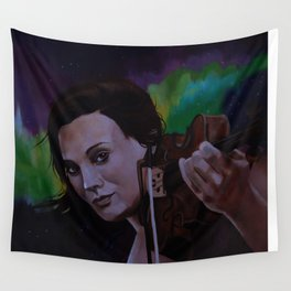 The violinist of the Northern Lights Wall Tapestry