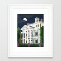 haunted mansion Framed Art Prints featuring Haunted Mansion by BKgraphicART