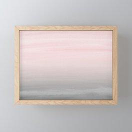 Touching Blush Gray Watercolor Abstract #2 #painting #decor #art #society6 Framed Mini Art Print