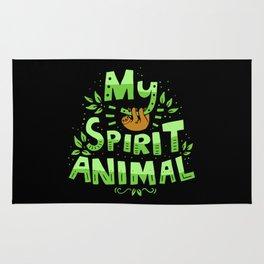 My Spirit Animal | Sloth Lazy Rug