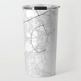 Minimal City Maps - Map Of Aarhus, Denmark. Travel Mug