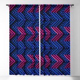 Neon op art striped arrows forward Blackout Curtain
