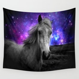 Horse Rides & Galaxy Skies Wall Tapestry